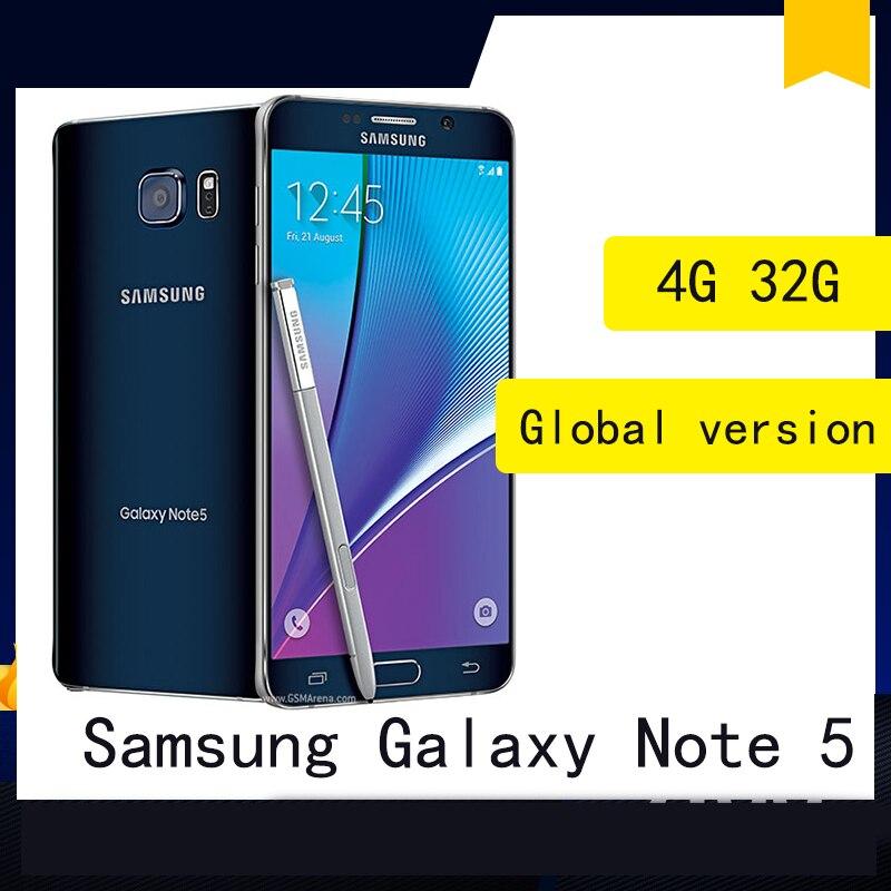 Samsung Galaxy Note 5 Octa Core 5.7Inch 4GB RAM 32GB ROM 16.0MP LTE 4G Android Smartphone unlocked недорого