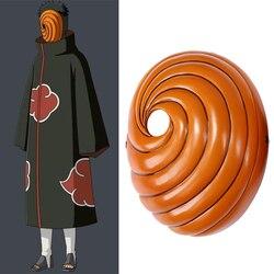 Naruto akatsuki tobi uchiha obito cosplay máscara halloween cola dongman máscaras
