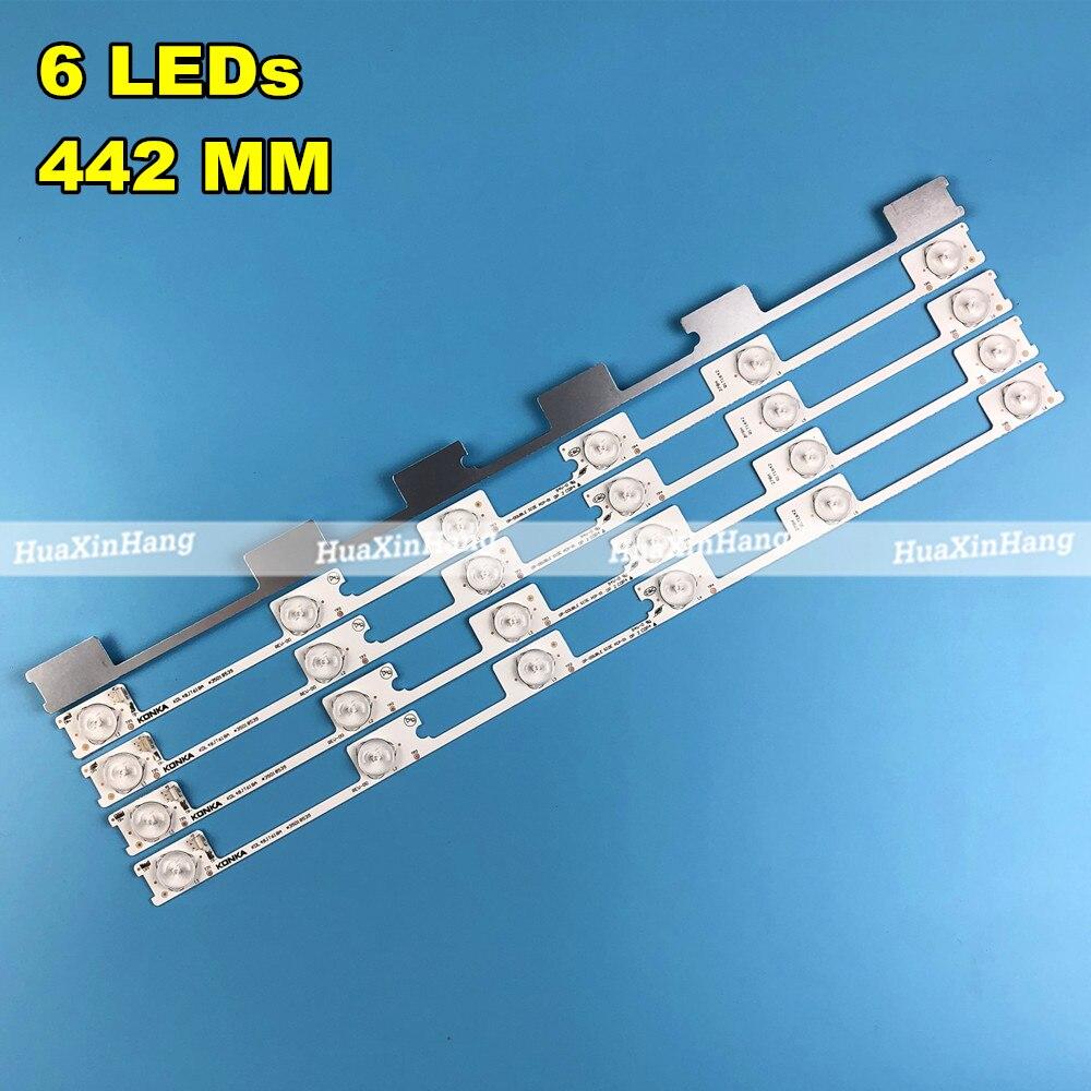 100 sztuk KDL48JT618A KDL48JT618U KDL48SS618U 48L2400 35018539 35018540 6 diod led (6V) 442mm