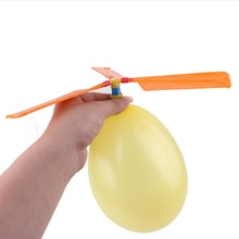 1 Pcs Fun Natuurkunde Experiment Zelfgemaakte Ballon Helikopter Diy Materiaal Thuis Educatieve Kit Kind Gift