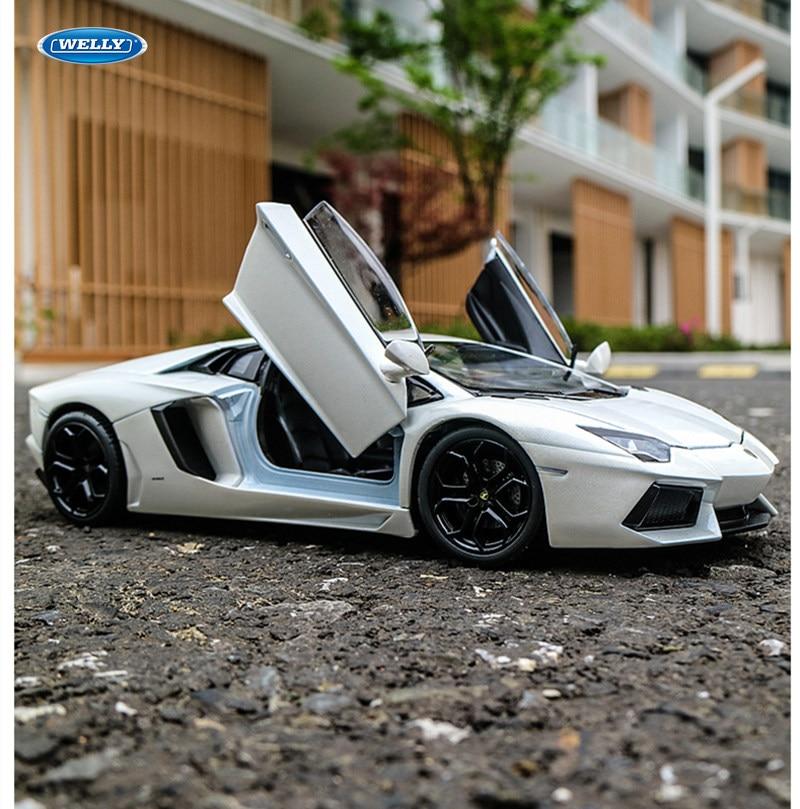 Welly 1:24 Lamborghini Aventador LP700-4 Моделирование Классический литой автомобиль модель автомобиля металлические игрушки для детей Коллекция подарков