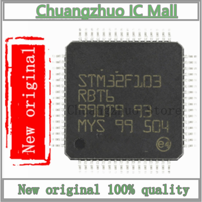 1 Pçs/lote STM32F103RBT6 STM32F103 RBT6 LQFP-64 Chip IC Novo e original
