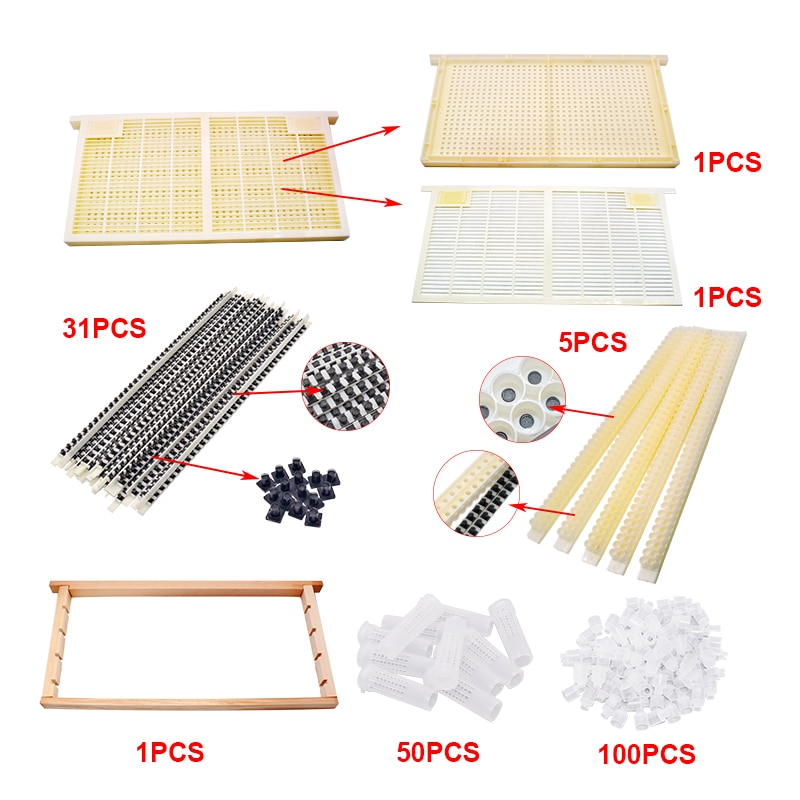 Beekeeping Free Grafting Tool Kit for Queen Rearing Complete CQR-3C Queen Rearing System Royal Jelly Producing Queen Rearing Kit недорого