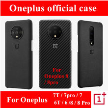 100% original case for oneplus 7t 7 8 pro sandstone silicone aramid carbon fiber official back cover
