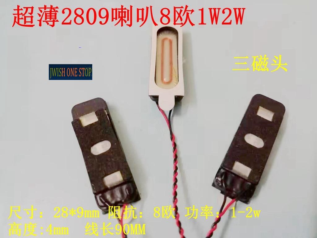 3 canales de funcionamiento Ultra-delgado cable de tres imanes 2809 altavoz 8 Euro 1 vatios 2 vatios 8 Euro 1w2w