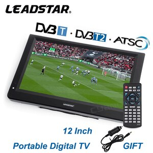 LEADSTAR D12 12 Inch LED HD Digital Player AC3 DVB-T T2 ATSC Digital Analog Television Portable Mini Small Car TV MP4 Monitor