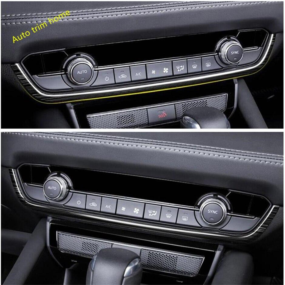 Lapetus, cubierta frontal de Panel de aire acondicionado medio AC, decoración de tira embellecedora, 1 pieza, apta para Mazda 6 2019 2020, accesorios de coche