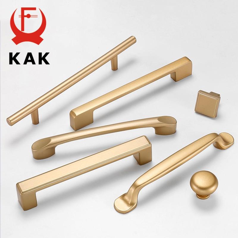 aliexpress.com - KAK European Style Matte Gold Cabinet Handles Solid Aluminum Alloy Kitchen Cupboard Pulls Drawer Knobs Furniture Handle Hardware