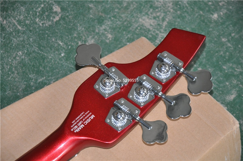 Classic custom 4 string bass electric guitar, metal red body, active pickup, free delivery enlarge