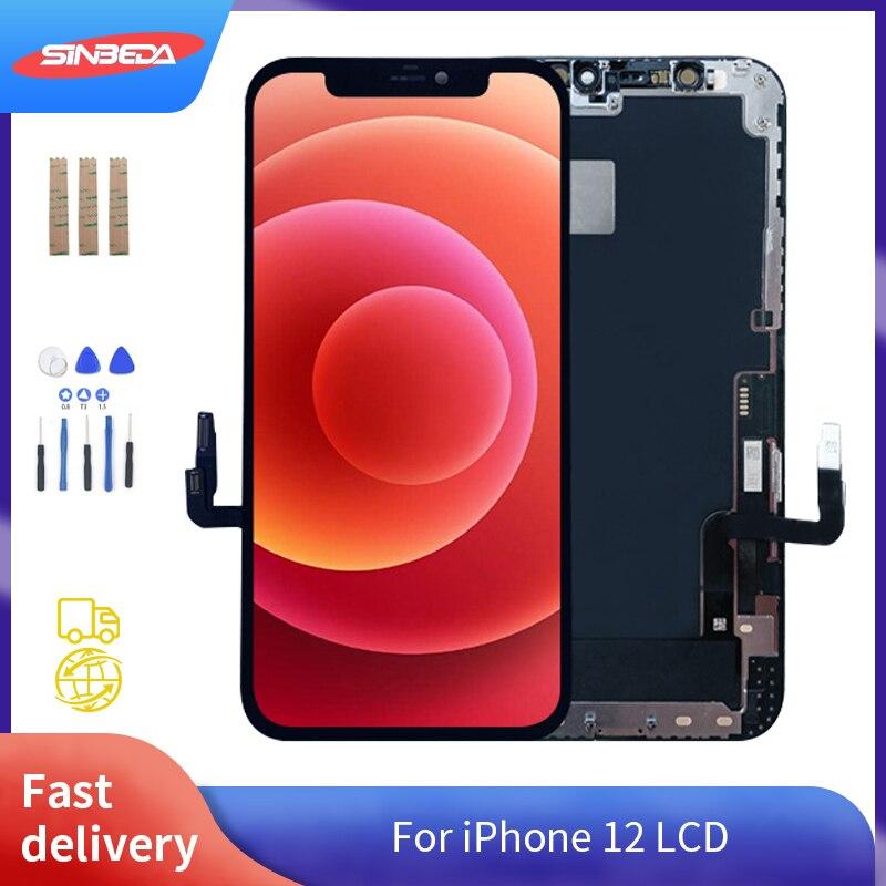الأصلي آيفون 12 LCD Mini Pro Max عرض استبدال ثلاثية الأبعاد تعمل باللمس محول الأرقام الجمعية شاشة آيفون 12 Mini Pro مع هدية
