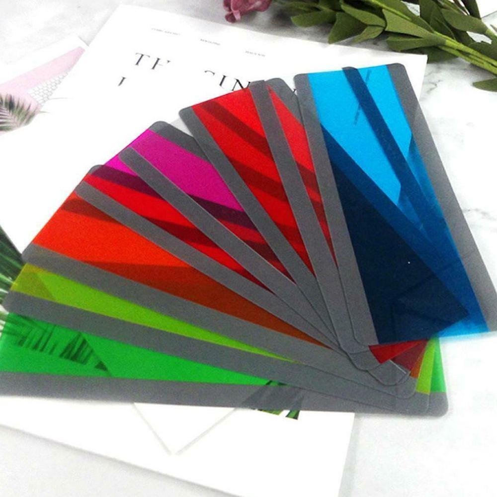 8 peças tiras de guia de leitura highlighter sobreposições coloridas bookmark ler tiras para o aluno professor dislexia pessoas