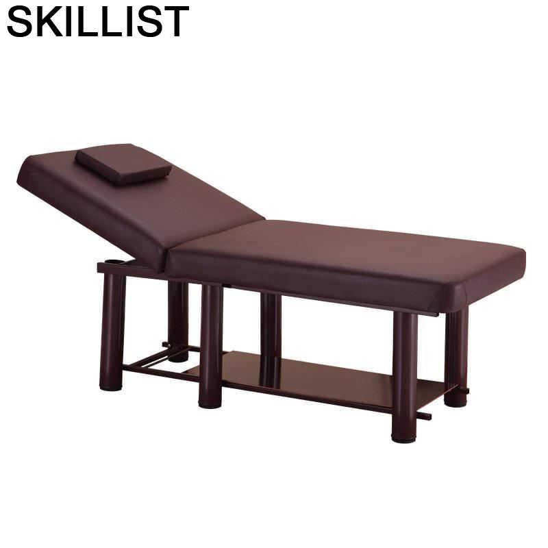 Cama de Masaje Plegable para salón de belleza, Mueble de mesa, Cama...
