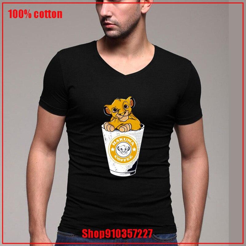 Hakuna café V-neckEU tamaño 100% algodón tee carta camiseta adolescente T camisas camisetas T de manga corta de moda suave