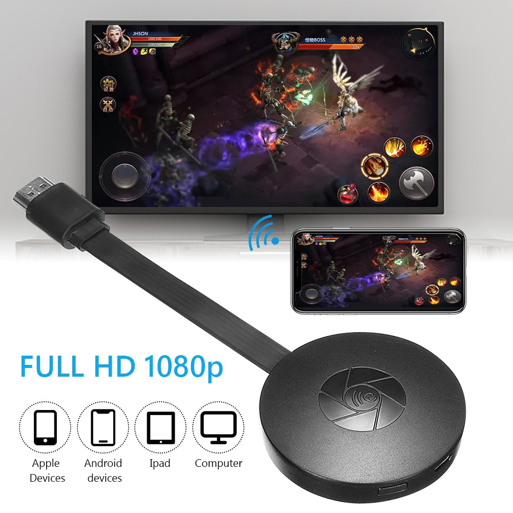 Wifi Wireless Display Dongle Tv Stick Volledige 1080P HDMI-compatible Miracast Dlna Tv Cast Display