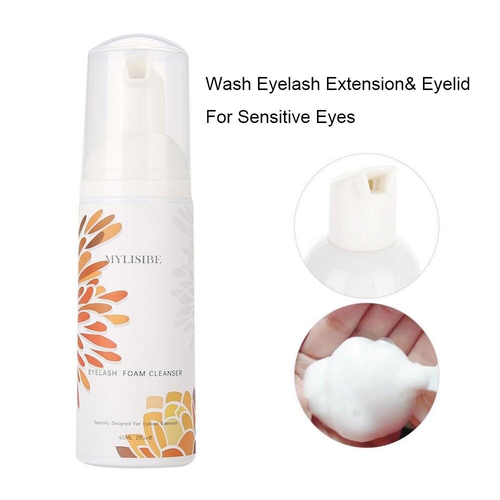 pro eye lash 60ml Eyelash Extension Brush Lash Shampoo Kit Eye Lash Cleaning Foam Pump No Stimulation Clean Lash Shampoo Extension Mousse