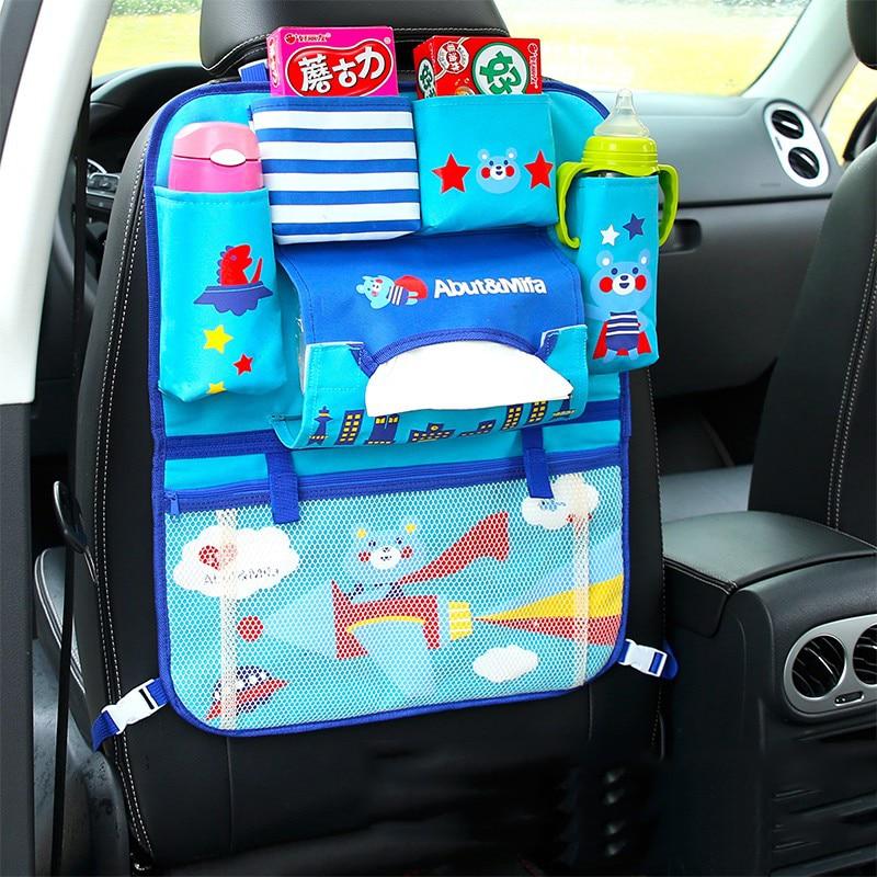 multifunctional car seat rear back storage bag back seat hanging bags polyester car storage box safety seat organizer supplies