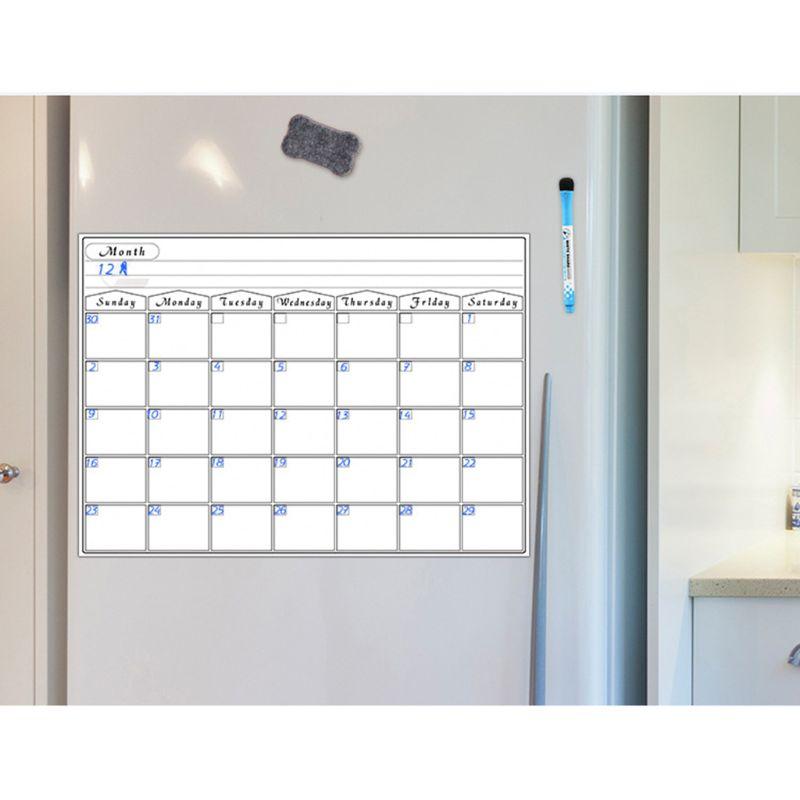 A3 Magnetic Monthly Planner Whiteboard Calendar Fridge Magnet Erasable Flexible Message Drawing Refrigerator Bulletin
