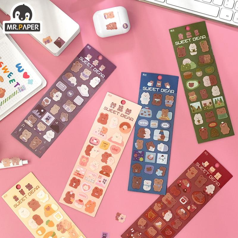 mr-paper-6-disegni-2-pz-borsa-stile-cartone-animato-dolce-orsetto-serie-carino-conto-mano-fai-da-te-decorazione-collage-materiale-adesivi