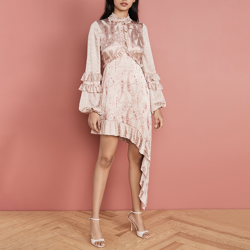 Vestido asimétrico de verano con estampado Floral de farol