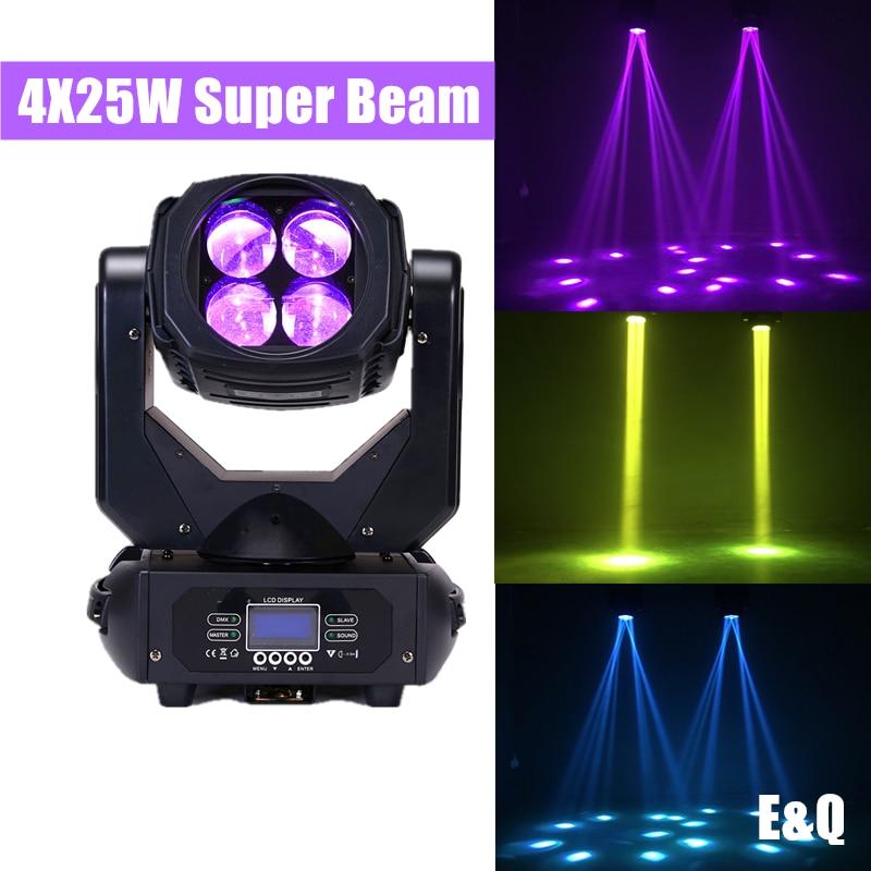 ضوء الرأس المتحرك ، 4 عيون ، 4 شعاع ضوء سوبر دوار ، صبغة ليزر KTV ، غرفة خاصة ، بار ، ديسكو ، مسرح ، LED25W