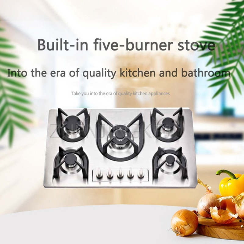 Embedded Gas Stove Five Eyes Natural Gas Liquefied Gas Home Kitchen Environmental Protection Energy Saving Fierce Fire Cooker халат домашний five wien home five wien home mp002xw0f4sc