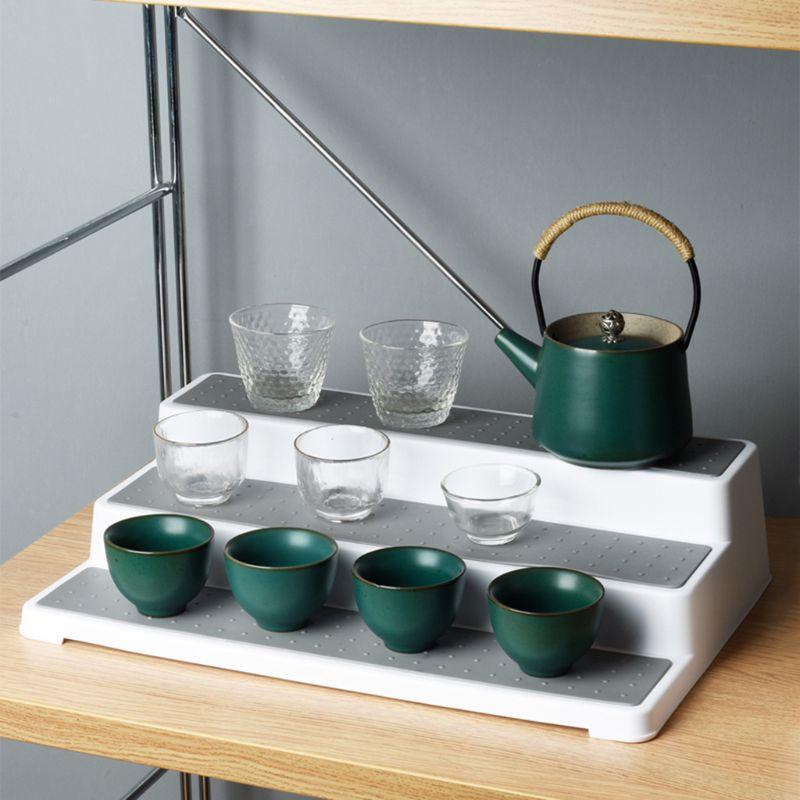 3-tier spice rack-design moderno à prova dwaterproof água e não skid prateleira cozinha organizar