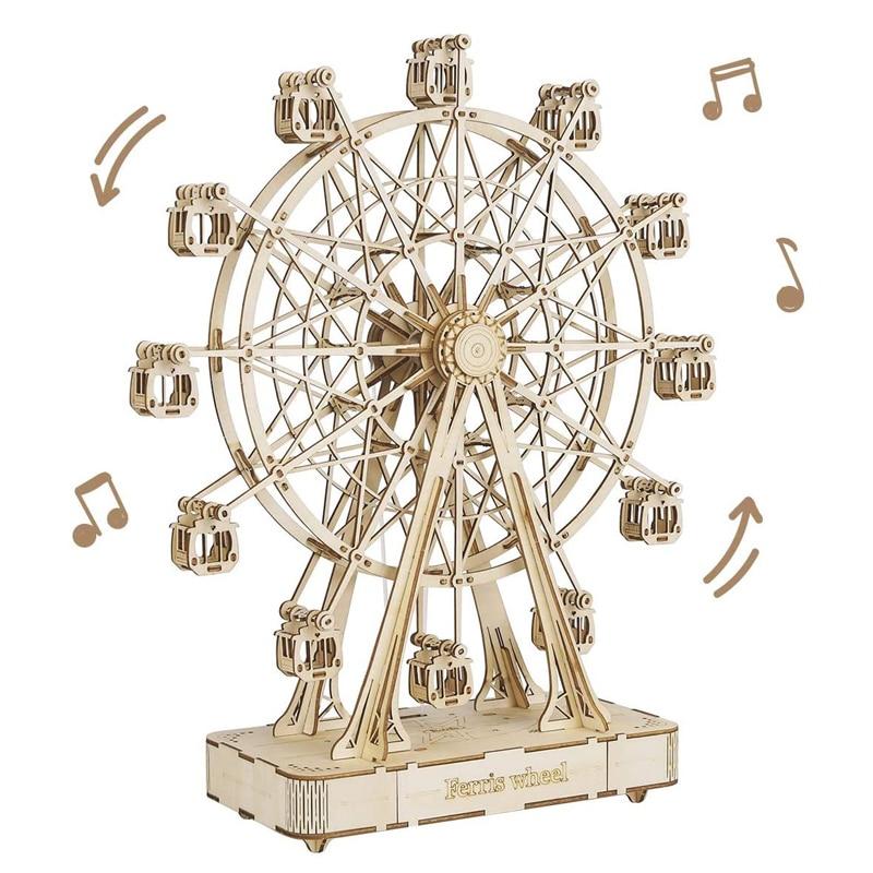 Пазлы деревянные 3D для взрослых, игрушка для строительства, подарок для взрослых и подростков, колесо обозрения для детей и взрослых, 232 шт.