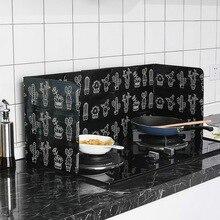 Cactus Printed Aluminum Foil Oil Block Oil Barrier Stove Cook Anti-Splashing Oil Baffle Heat Utensils Kitchen Insulation