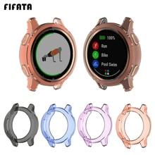 FIFATA TPU Case Protector Frame For Garmin Vivoactive 4 / 4S Smart Watch For Vivoactive 4S / 4 Scree