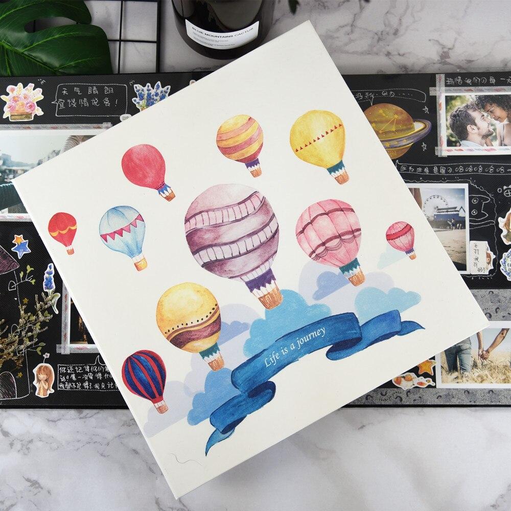 PA15 Creative pu couverture en cuir famille auto-adhésif album photo bricolage manuel album 12 ou 18 pouces amoureux amour bébé souvenir livre