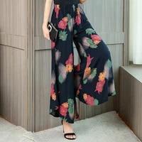 soft comfort women pants 2021 new high waist casual summer print pants women cotton long plus size trousers female