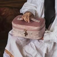 cosmetic bag travel toiletry storage bag beauty makeup bags cosmetics organizer zipper make up case