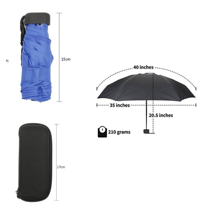 Mini Cápsula de bolsillo paraguas ligero a prueba de viento paraguas plegable viaje compacto paraguas de lluvia hombres