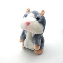 15cm parlant Hamster souris animal de compagnie enfants en peluche mignon parler parler son enregistrement Hamster jouet éducatif pour garçons/filles cadeaux
