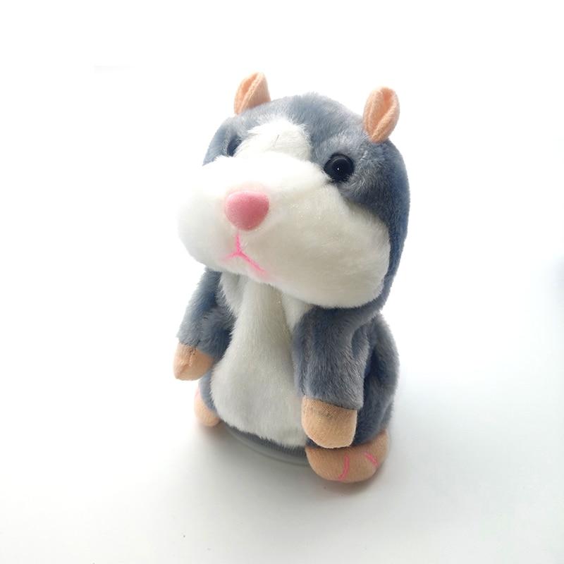 Juguete de felpa para niños de 15cm, hámster parlante, ratón, mascota, juguete educativo para niños/niñas, grabación hámster