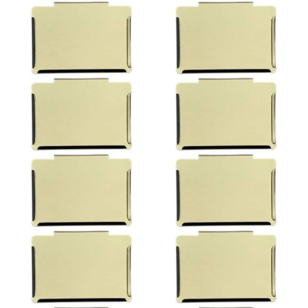 8 قطعة سلة بن كليب تسميات قابلة لإعادة الاستخدام تخزين المعادن للإزالة حامل معلق المنظم لتخزين مخزن المطبخ التصنيف