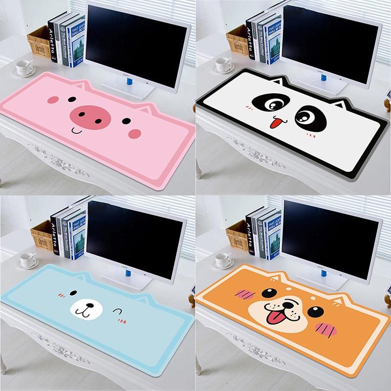 Симпатичный Настольный коврик для клавиатуры и мыши, коврик для мыши XXL, коврик для мыши с котом для игр, нескользящий коврик для ноутбука и П...