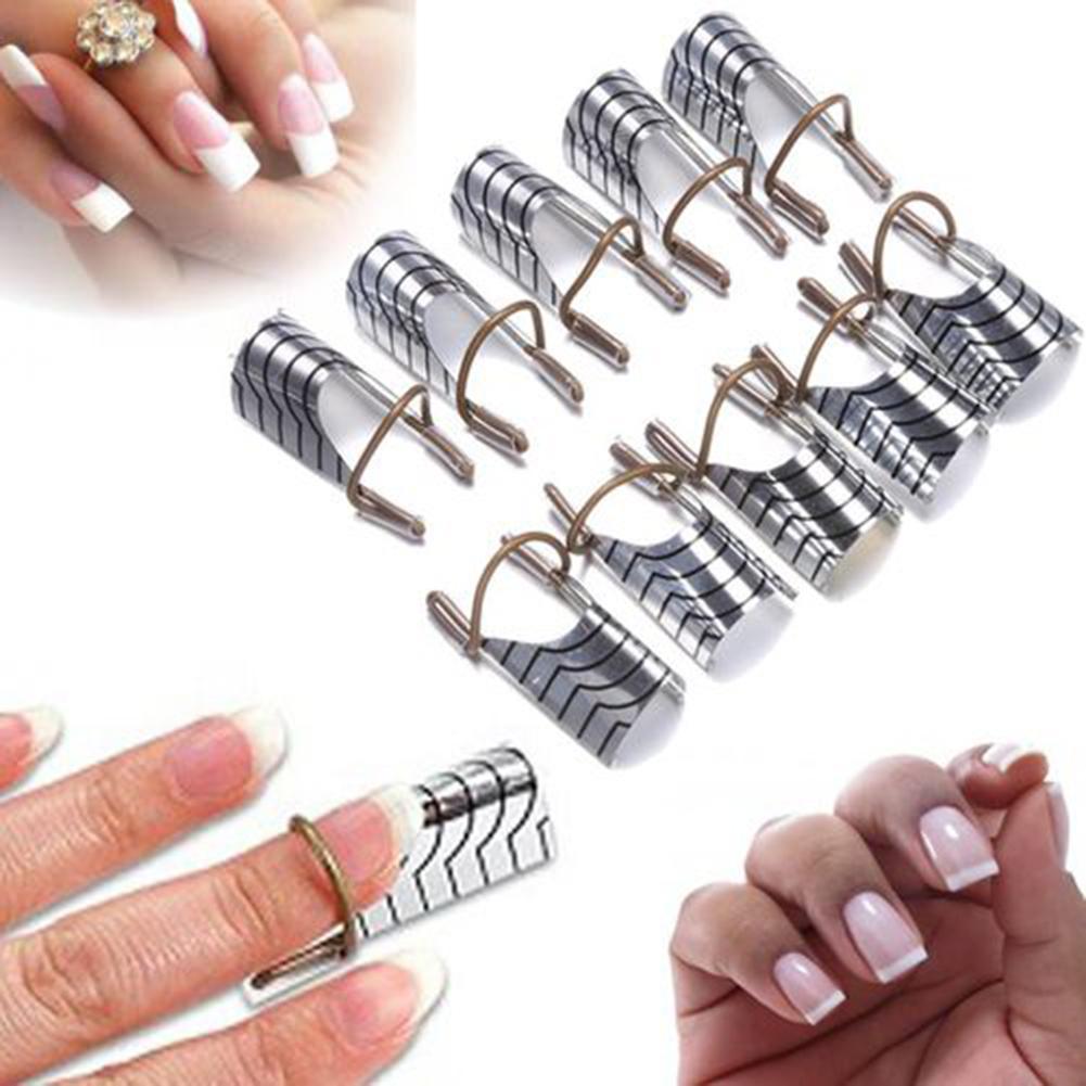 10Pcs Women Reusable UV Gel Acrylic Tips Nail Art Extension Guide Form Tools