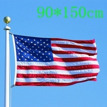 150x90cm USA Flag High Quality Double Sided Printed Polyester American Flag Grommets USA Flag Fade R