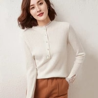 new womens pullover casual solid color half high neck wool sweater plus size knitted cashmere sweater hollow ladies top hot