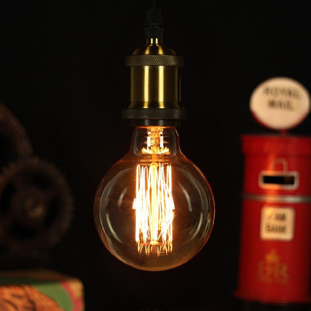 Приглушаемая винтажная лампа Эдисона E27 ST64 G80 G95 T45 T28, 2 шт., 40 Вт, теплый белый свет, лампа накаливания в стиле ретро, 220 В