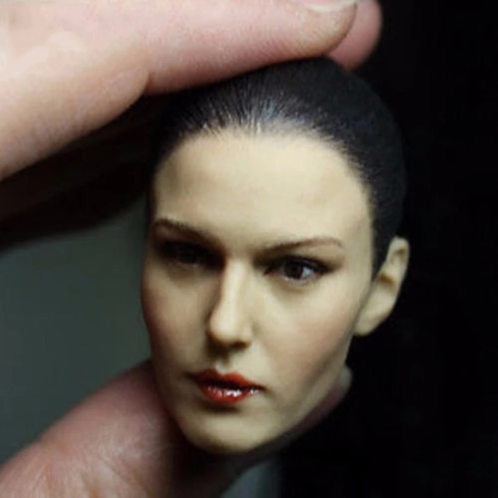 KM13-11 1/6 Scale Female Head Sculpt Woman Head Carving Black Ponytail Cool Girl Head For 12 Action Figure Body in stock gc018 1 6 scale beauty european girl head sculpt ivanka trump head carving toy 4 styles for 1 6 female action figure