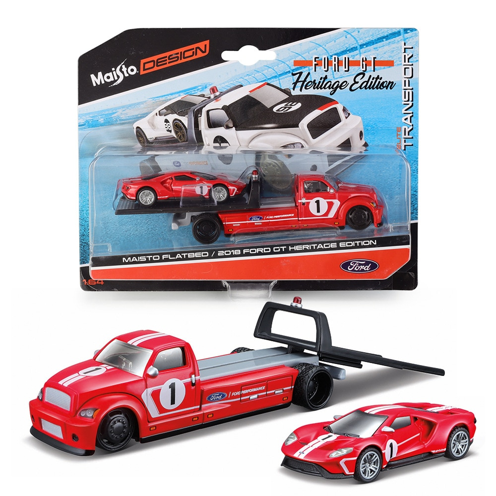 Maisto1:64 FORD GT Modified car flat transport vehicle set series Car Static Die Cast Vehicles Collectible Model Car Toys