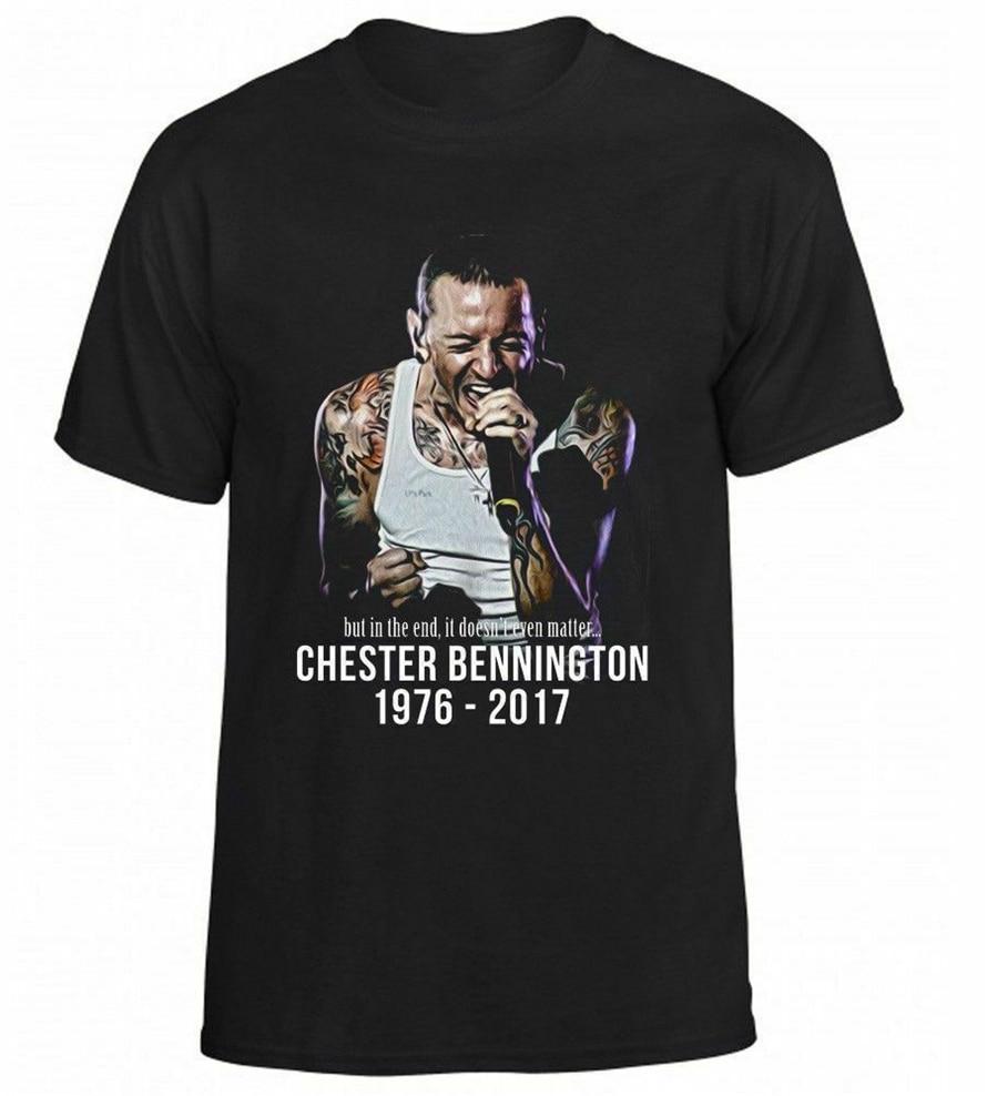 Camiseta de calle de moda con estampado de Linkin Park Chester Bennington 2019