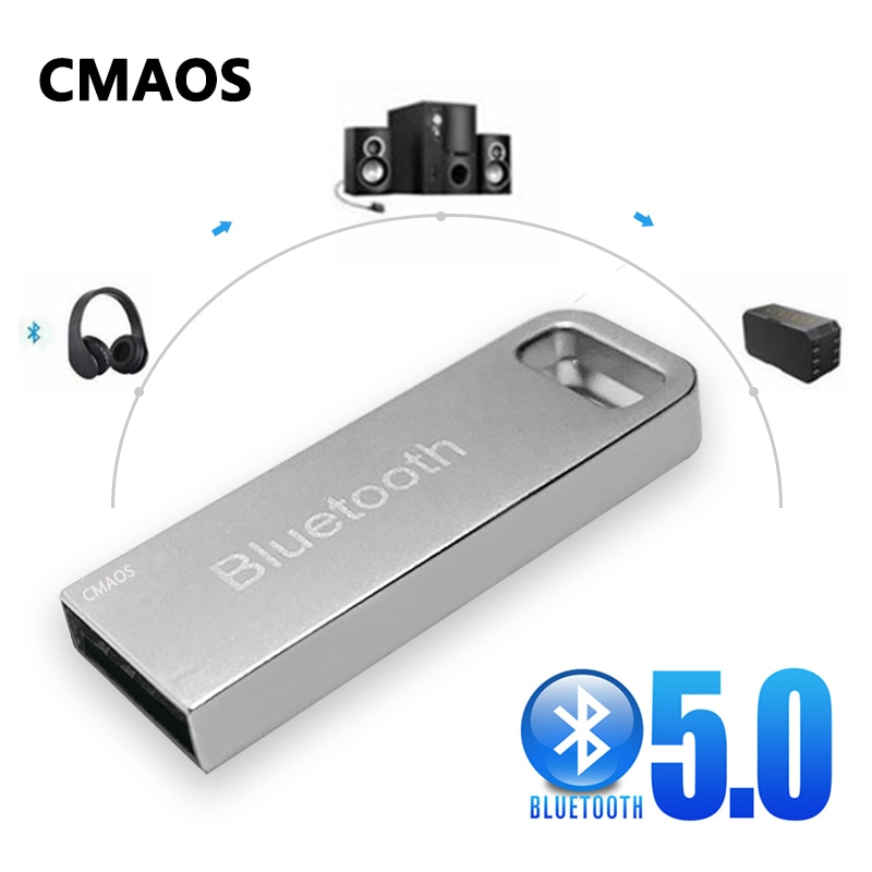 New metal USB Wireless auxiliary Bluetooth 5.0 receiverr audio adapter transmitte for MP3 player spe
