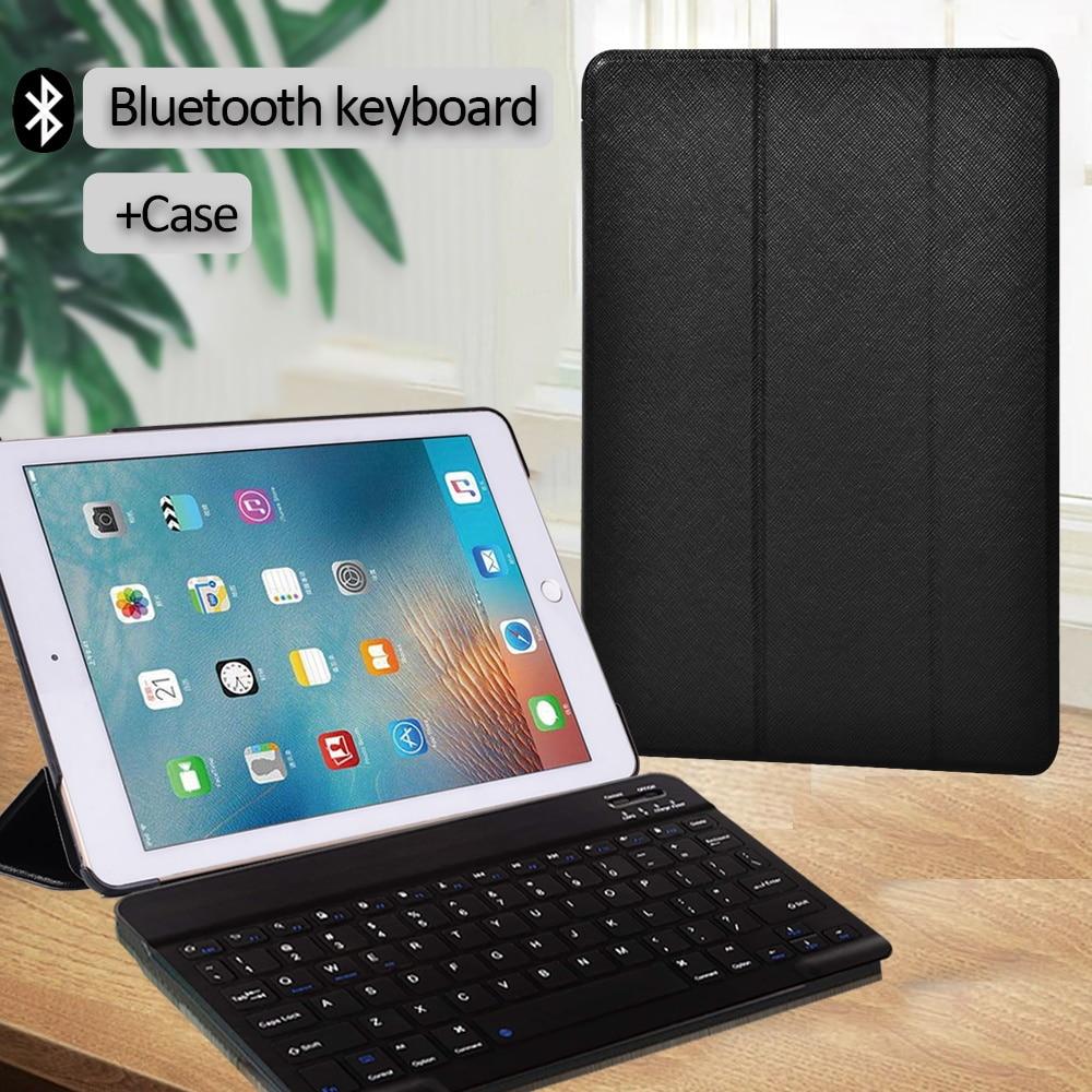 Capa para Apple Capa + Teclado Ipad Pro 9.7 ar 2 Anti-poeira Inteligente Acordar Trifold Suporte Bluetooth 5th Gen – 6th