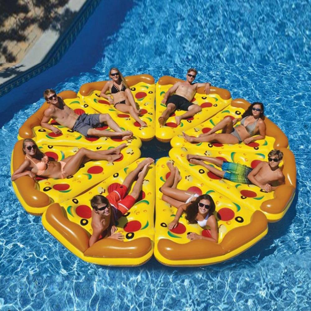 Colchoneta hinchable para piscina de 180x150 Cm, colchón flotante de Color para nadar, juguetes para piscinas, juguetes acuáticos de verano
