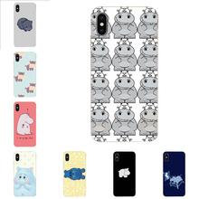 For HTC Desire 530 626 628 630 816 820 830 One A9 M7 M8 M9 M10 E9 U11 U12 Life Plus Lovely Plastic Hippo Cute