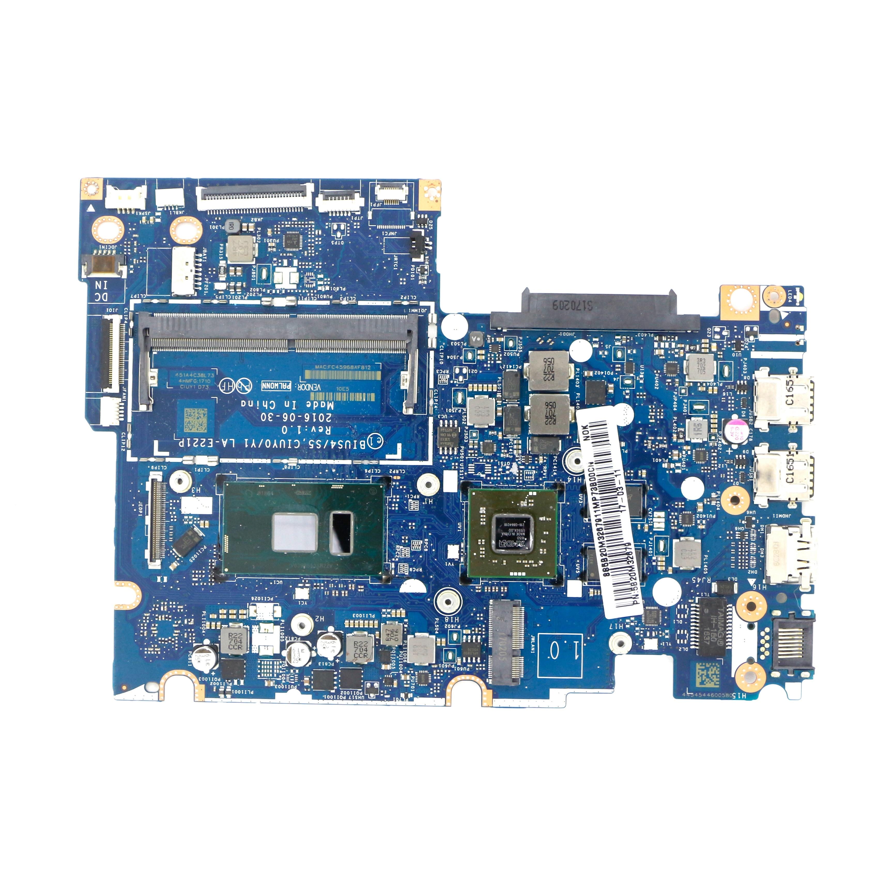 5B20M32679-المتقطعة اللوحة BIUS4/S5 CIUY0/Y1 LA-E221P w/ i7-7500U + R7 M360 لينوفو فليكس 4-1580