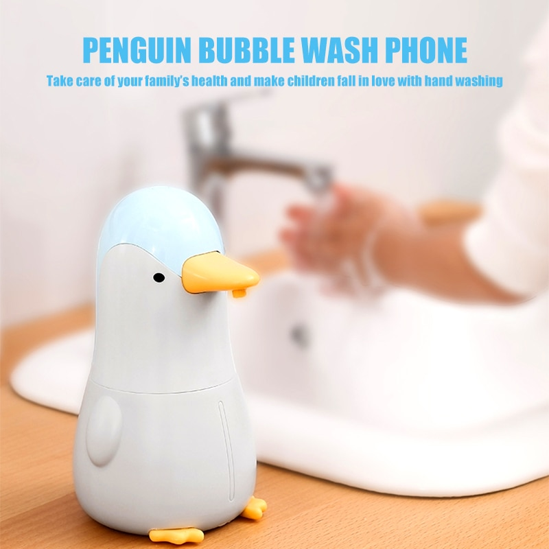 Soap Liquid Dispenser Touchless Intelligent Infrared Sensor Childs Automatic Penguin Induction For Kitchen Bathroom Hand Washing enlarge